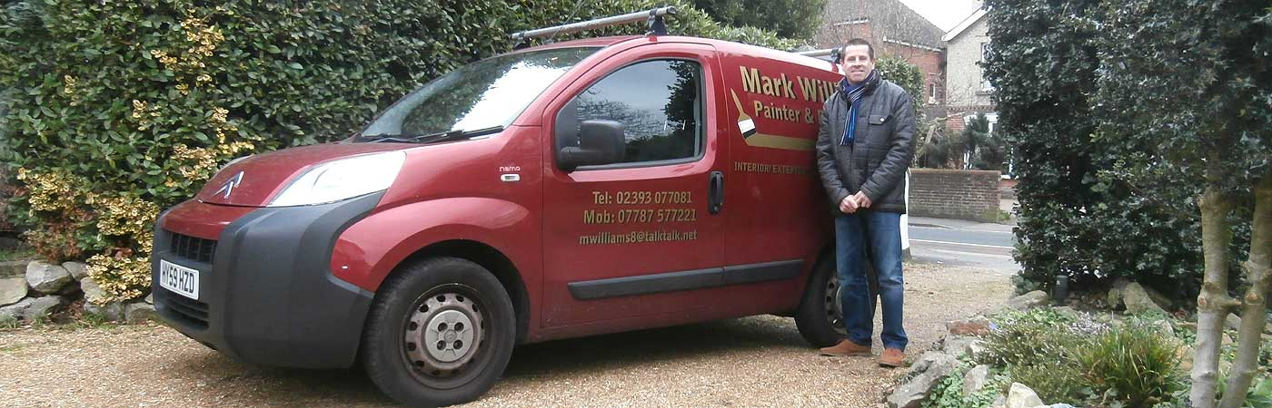 gosport decorator mark williams by his trade van